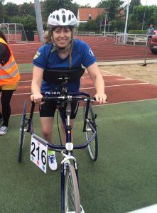 Nina Lundberg på sin racerunner